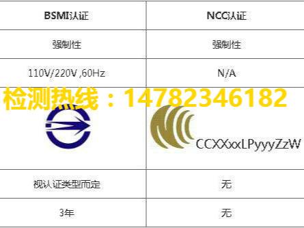 台湾BSMI+NCC认证